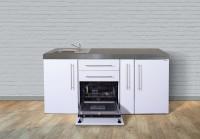 Miniküche Premiumline MPGS 180 A - Mit Geschirrspüler, Kühlschrank & Apothekerauszug