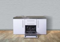 Miniküche Premiumline MPGS 170 - Mit Geschirrspüler & Kühlschrank