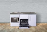 Miniküche Premiumline MPGSMOS 170 - Mit Geschirrspüler, Mikrowelle & Backofen