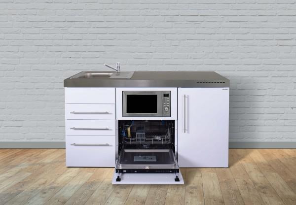 Miniküche Premiumline MPGSMS3 160 - Mit Geschirrspüler, Mikrowelle & 3 Schubladen