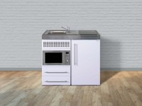 Miniküche Premiumline MPM 100 - Mit Mikrowelle & Kühlschrank