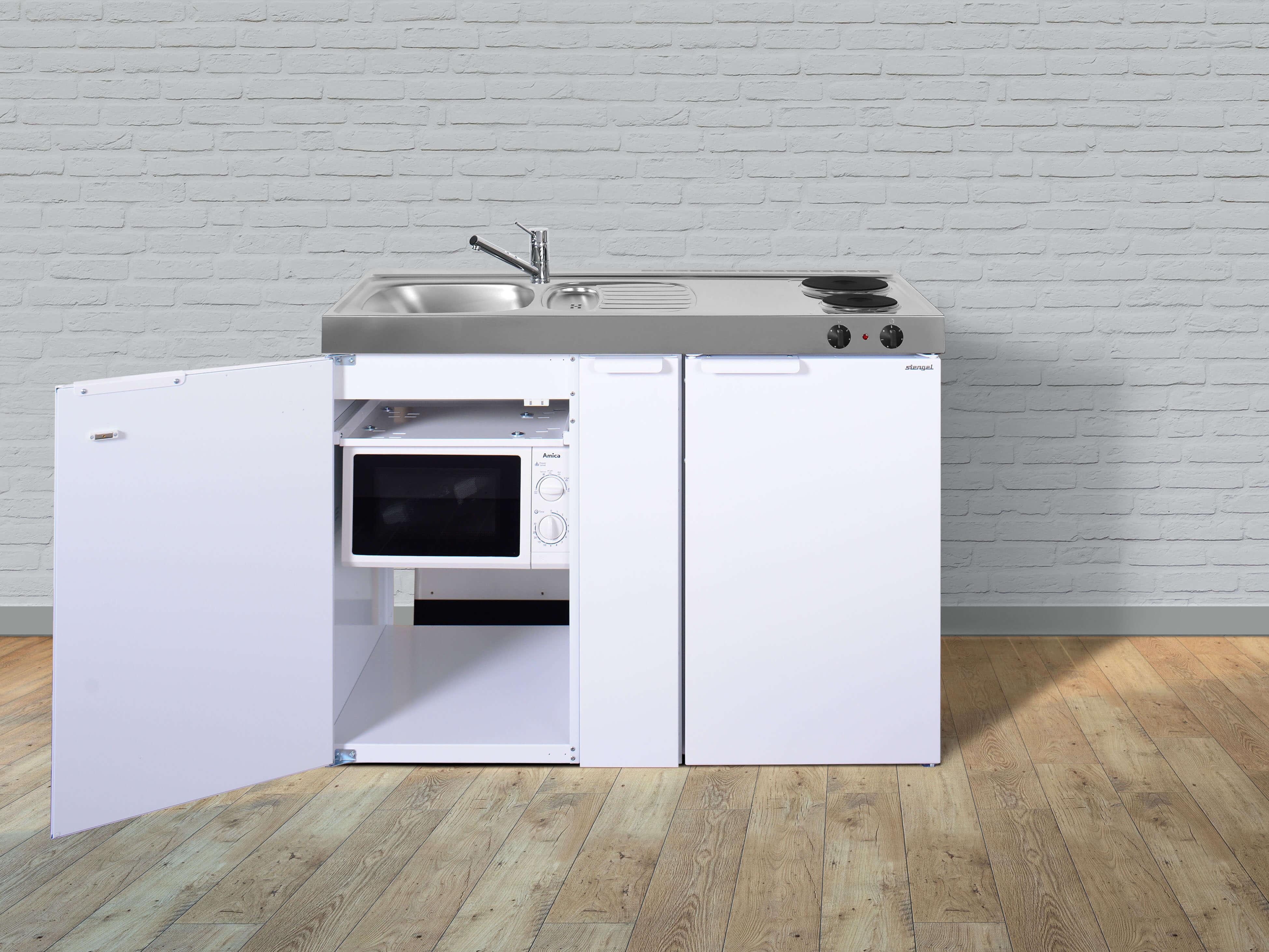 Miniküche Mit Kühlschrank Und Backofen : Stengel miniküche kitchenline mkm a miniküchen online